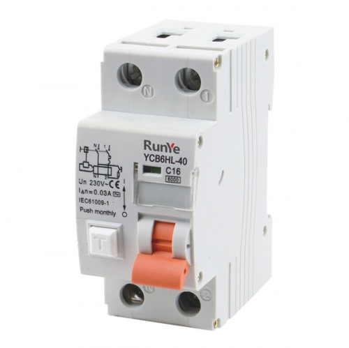 YCB6HLN-40 Residual Current Circuit Breaker With Over Current Protection